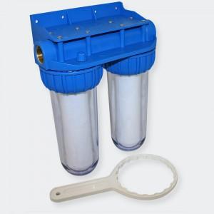 """10"""" (254 mm) Dricksvattenfilter Dubbelt 3/4 tum (26,16 mm)"""
