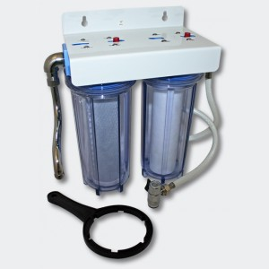"""10"""" (254 mm) Dricksvattenfilter dubbelt 3/4 tum (19 mm)"""
