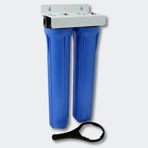 """20"""" (508 mm) 2-Stegs - dubbelt vattenfilter"""