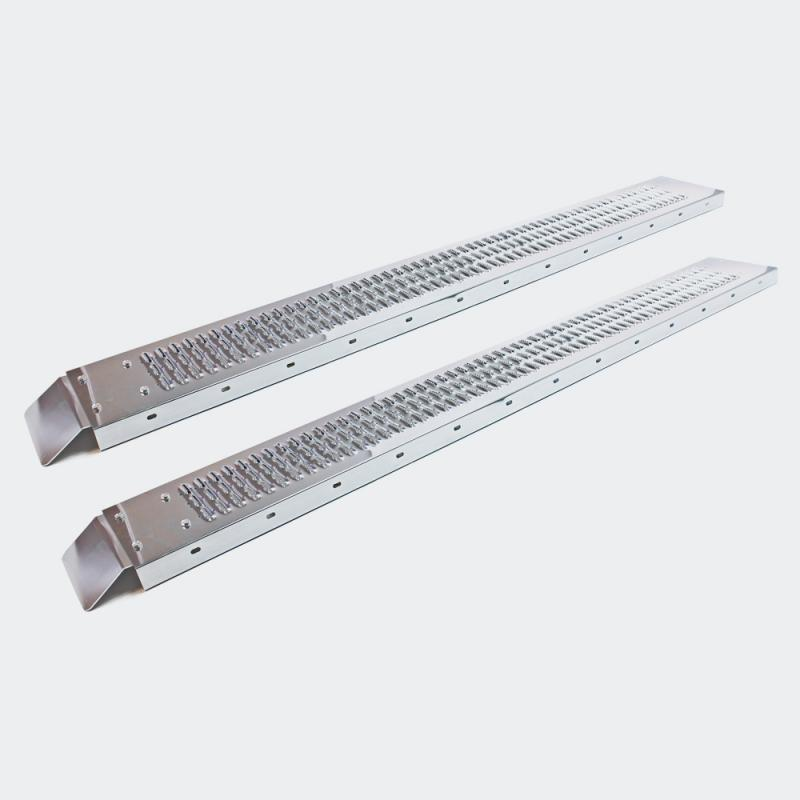 2x Uppkörningsramp av galvaniserat stål