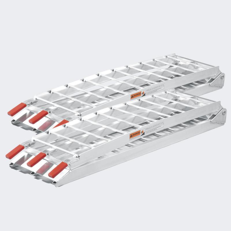 2x Uppkörningsramp med stöd ihopfällbar alu