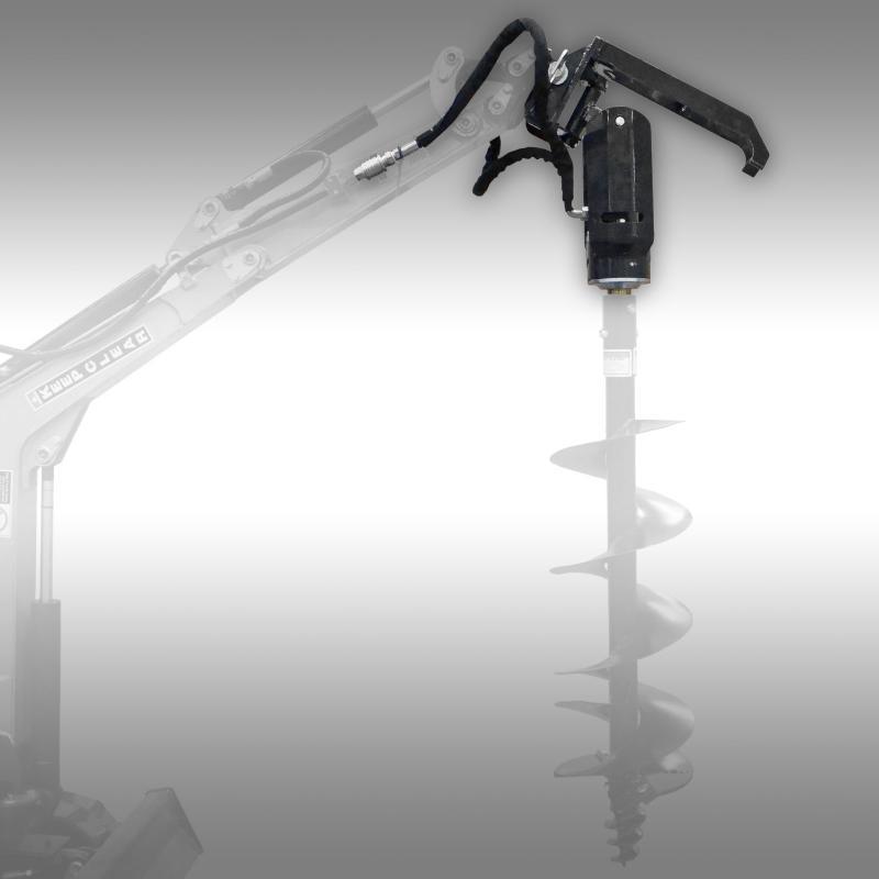 Hydraulisk Jordborrmaskin HJB-2000, Minigrävare, Traktor