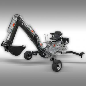 Minigrävare ES-300 tvåspakshydraulik 10 HK