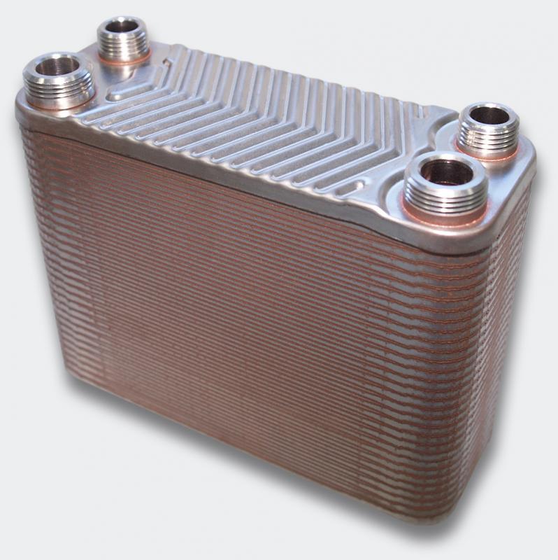 60 rader 130 kW Plattvärmeväxlare