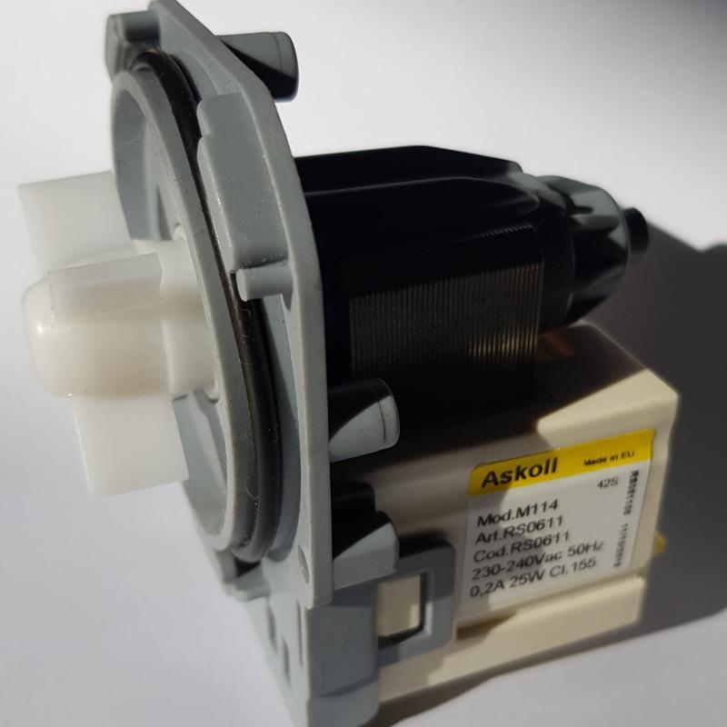 Tömningspump Askoll M114 till tvättmaskin