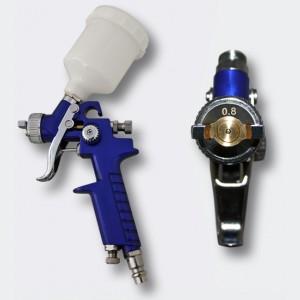 HVLP sprutpistol H2000 blå 0.8mm munstycke