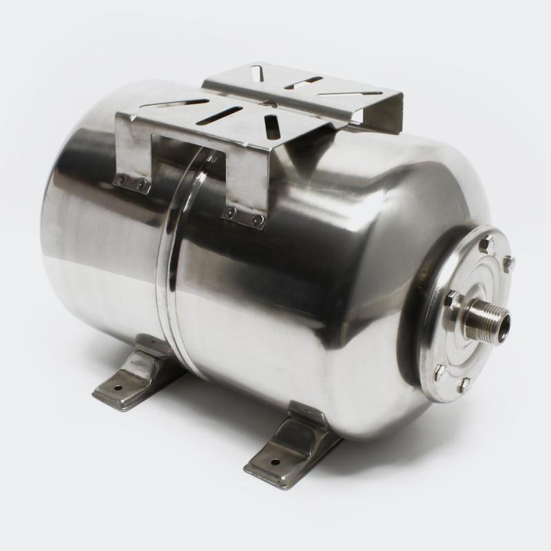 Hydropress tank 100L horisontell Rostfritt stål EPDM