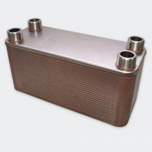 50 rader 285 kW Plattvärmeväxlare