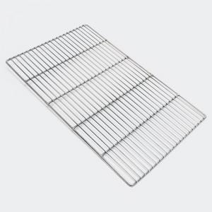Rostfritt grillgaller, rektangulär 54 x 34 cm