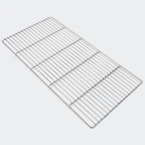 Rostfritt grillgaller, rektangulär 58 x 30 cm