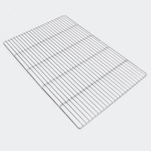 Rostfritt grillgaller, rektangulär 60 x 40 cm