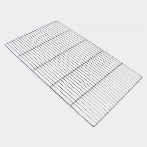 Rostfritt grillgaller, rektangulär 67 x 40 cm