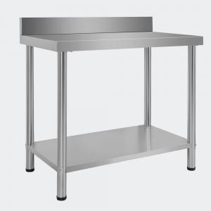 Arbetsbänk med bakkant i rostfritt stål 100x60x96 cm