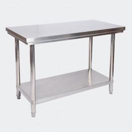 Arbetsbänk i rostfritt stål 100x60x85 cm