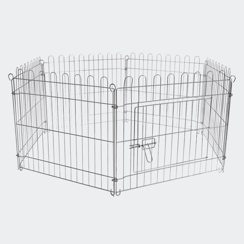 Hage metall 8 sektioner 80x75cm inkl. nättak