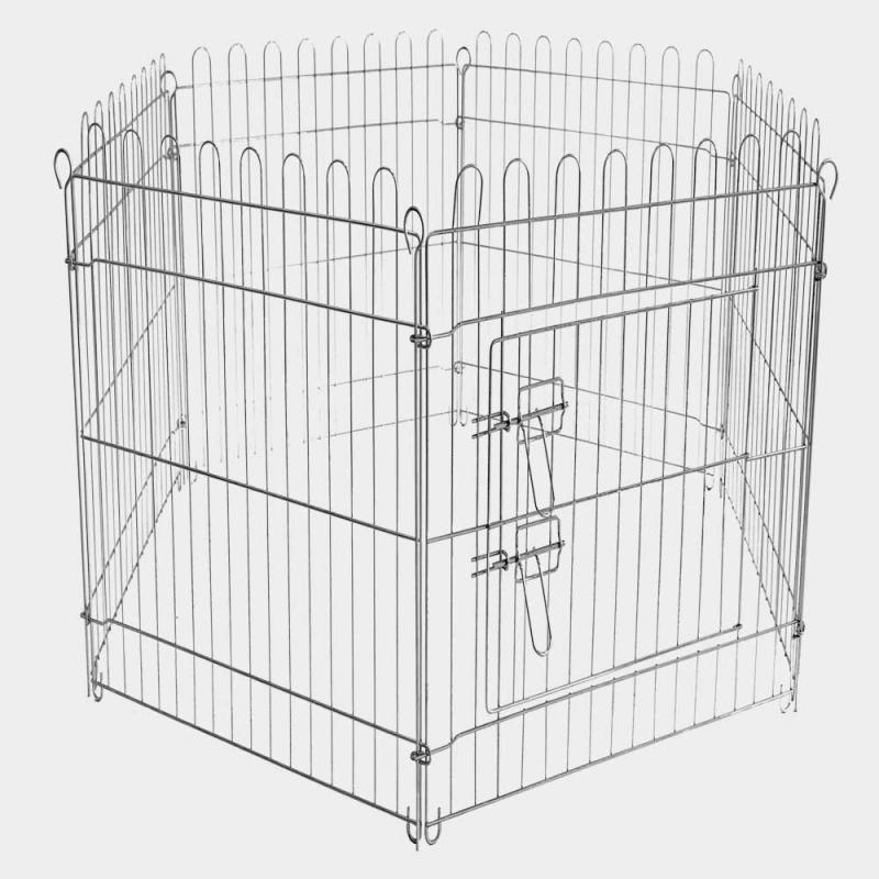 Hage galvaniserad stål 6 sektioner 70x120 cm