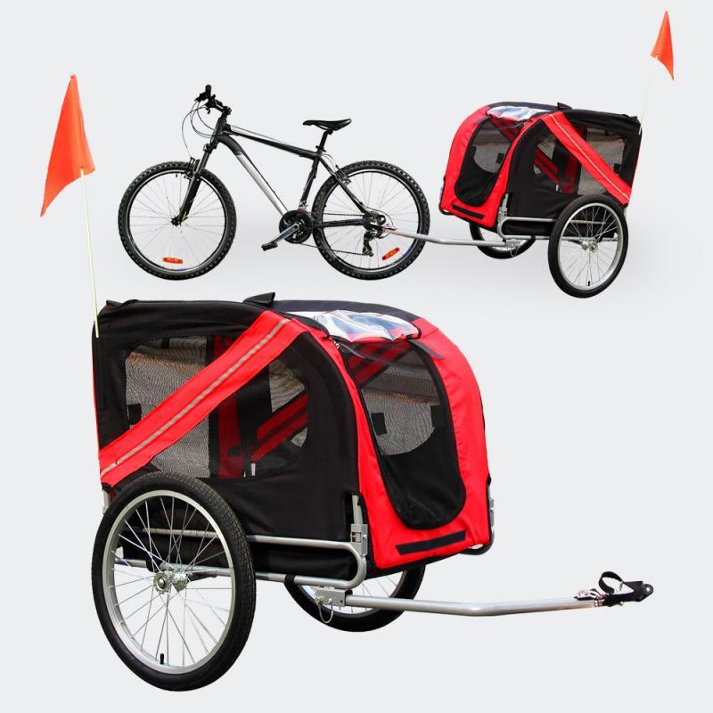 Cykelvagn för hund - hopfällbar - maxlast 40 kg
