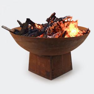 Eldskål eldstad rostfärgad E6