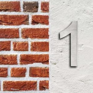 Husnummer rostfritt stål 3D 20cm