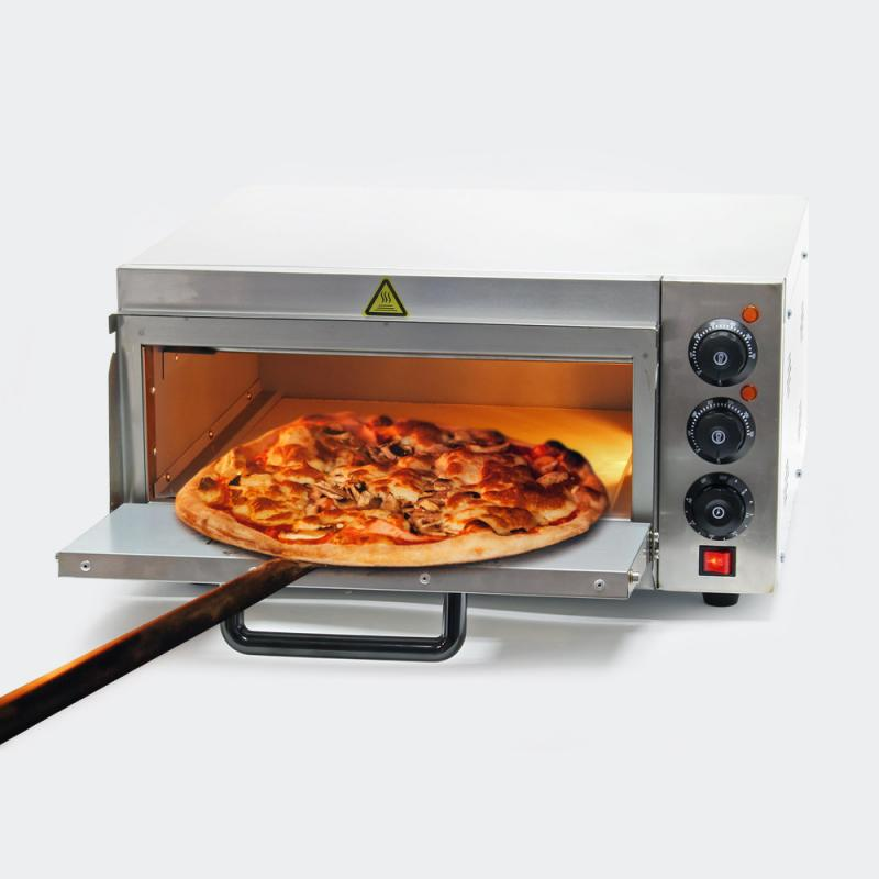 Pizza-ugn 2000W med pizzasten till stenugn-pizza