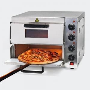 Pizza-ugn 3000W 2 våningar med pizzasten till stenugn-pizza