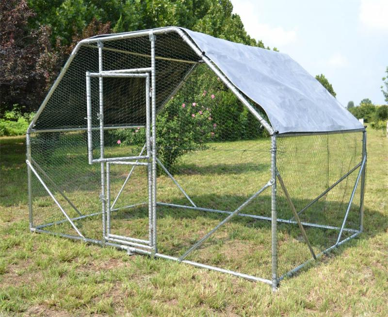 Hage 2x3x2 m Hönshus med vattentät soltak och dörr