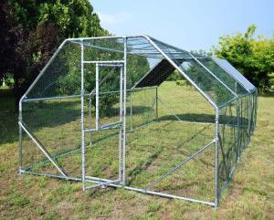 Hage 6x3x2 m Hönshus med vattentät soltak och dörr