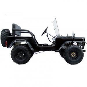 Mini Jeep 150cc - Bensinmotor, fjädring, handbroms, framruta, upp till 60 km/h