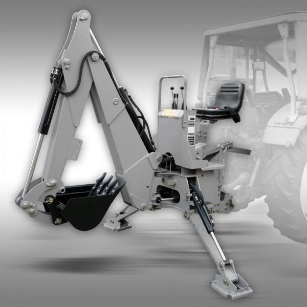 Bakgrävare/traktorgrävare EHM-225 inkl. skopa