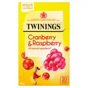 Twinings Cranberry & Raspberry Tea 20s