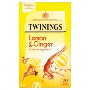 Twinings Lemon & Ginger Tea 20s