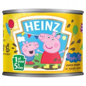 Heinz Peppa Pig Pasta Shapes 205g