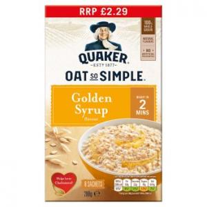 Quaker Oat So Simple Golden Syrup 8pk