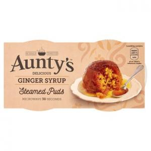 Auntys Ginger Syrup Steamed Puds 2pk