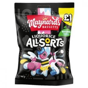 Maynards Bassetts Liquorice Allsorts 165g