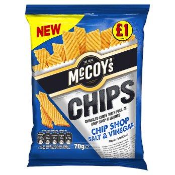 McCoys Chips Chip Shop Salt & Vinegar 70g