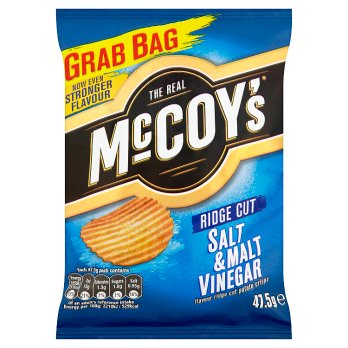 McCoys Salt & Malt Vinegar Ridge Cut 47.5g