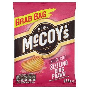 McCoys Sizzling King Prawn Ridge Cut 47.5g