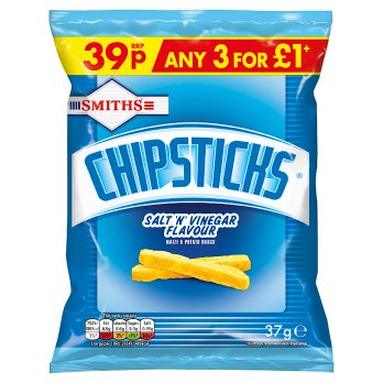 Smiths Chipsticks Salt & Vinegar 37g