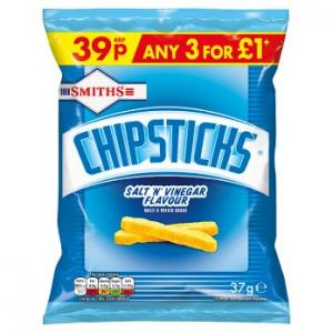 Smiths Chipsticks Salt & Vinegar 37g