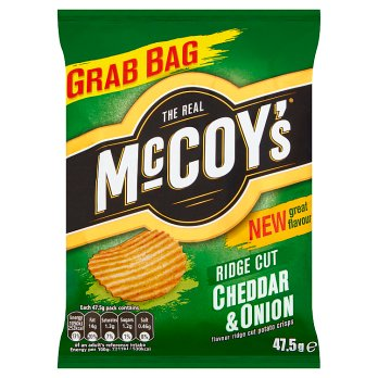 McCoys Cheddar & Onion Ridge Cut 47.5g
