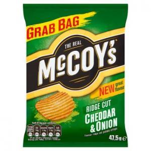 McCoys Cheddar & Onion Ridge Cut 47.5g