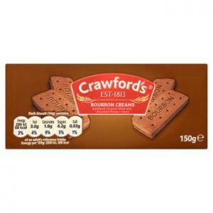 Crawfords Bourbon Creams Biscuits 150g