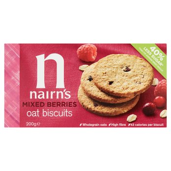 Nairns Mixed Berries Oat Biscuits 200g