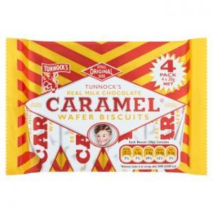 Tunnocks Caramel Wafer Biscuits 4pk