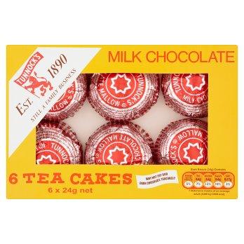 Tunnocks Tea Cakes Milk Chocolate 6pk