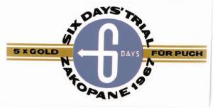 Framskärmsdekal 6-days Puch 1968