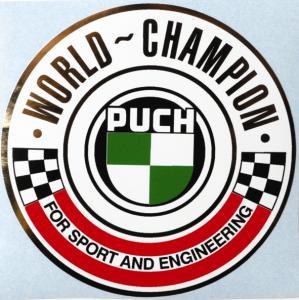 Tankdekal Puch World Champion 90.5mm