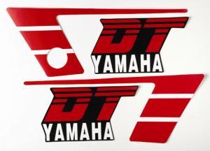 Dekalsats Yamaha DT50MX svart 86-