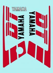 Dekalsats Yamaha DT50MX Svart/Röd